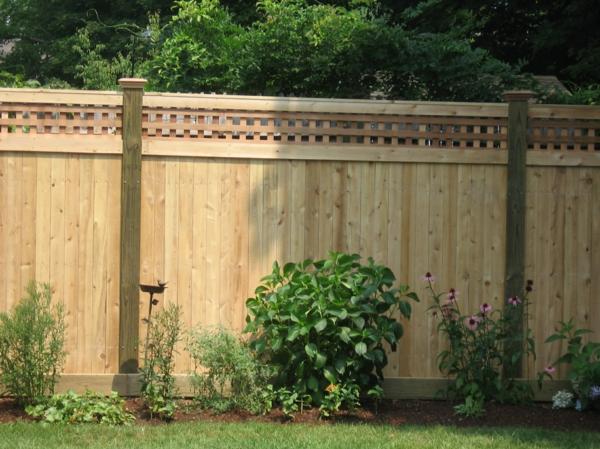 Gartenzaun aus holz   tolle ideen   archzine.net
