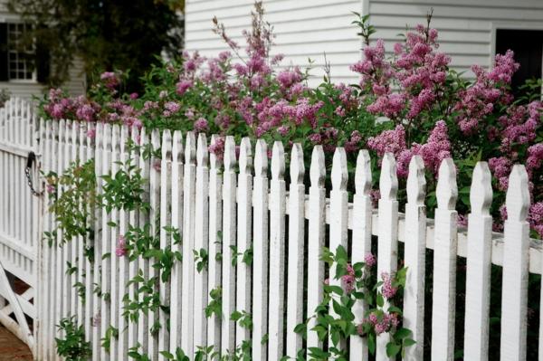 schöner-hölzerner-Zaun--in-Weißer-Farbe