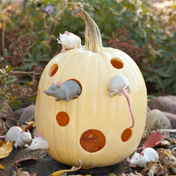 halloween-deko-ideen-kürbis-mäuser