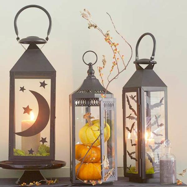 halloween-deko-ideen-metall - interessante lampen
