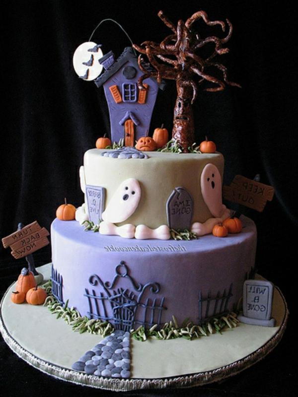 halloween-torten-lila-und-weiß