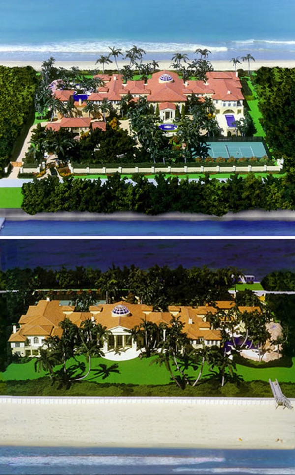 super-luxuriöse-häuser-manalapan-residenz - zwei fotos
