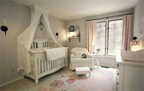 baldachin bett im babyzimmer 27 geniale ideen. Black Bedroom Furniture Sets. Home Design Ideas