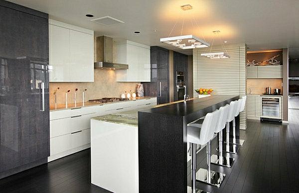 innovative-küchenbar-designs-barstühle-glanzvoll-möbel