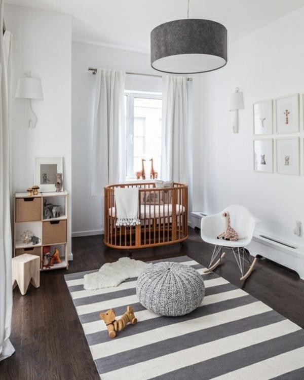 interessante-Babyzimmer-Gestaltung-Weiß-Grau