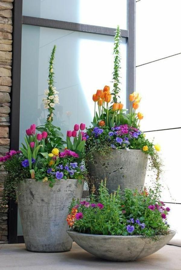 interessante-Blumentöpfe-Idee-Gartendeko