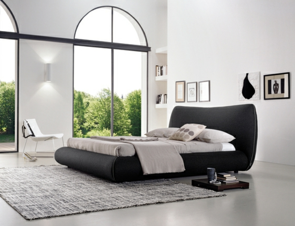 idee fr dunkles stylishes interieur rote motive im schlafzimmer ...