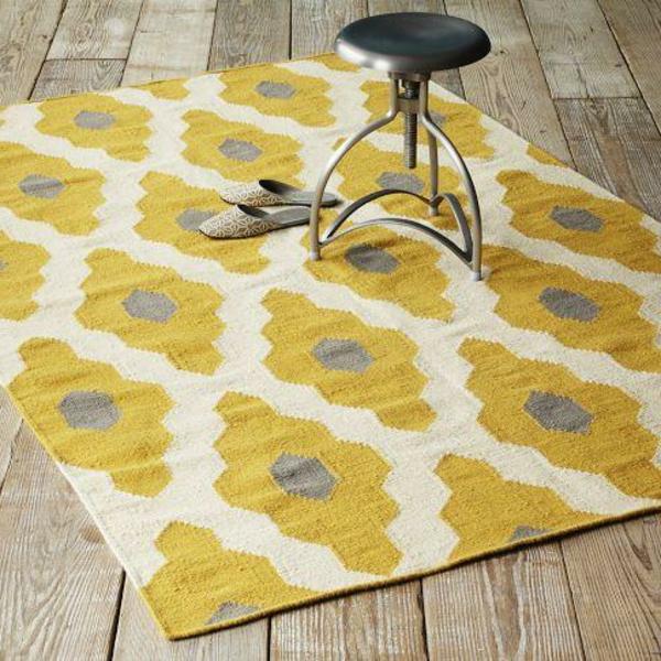 Teppich gelb  Gelber Teppich im Hause - Archzine.net