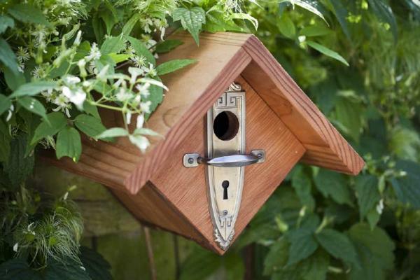 interessantes-Futterhaus-für-Vogel-aus-Holz