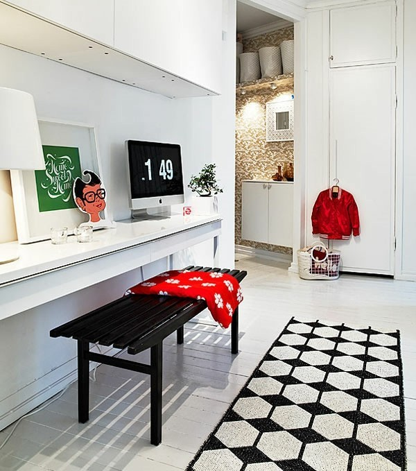 interior-design-Teppich-in-Weiß-und-Schwarz