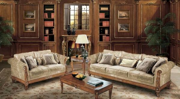zwei italienische sofas im gemütlichen wohnzimmer
