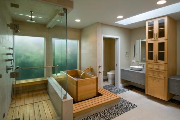 japanische badewanne 25 originelle designs. Black Bedroom Furniture Sets. Home Design Ideas
