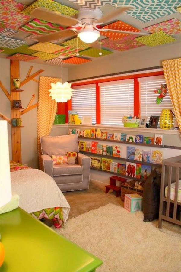 Vorschlage Gestaltung Kinderzimmer : wunderschöne gestaltung vom kinderzimmer mit einer bunten decke und