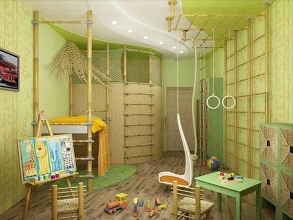 kinderzimmer- komplett-set-wunderschöne-grüne-farbe - viele sachen zum spielen