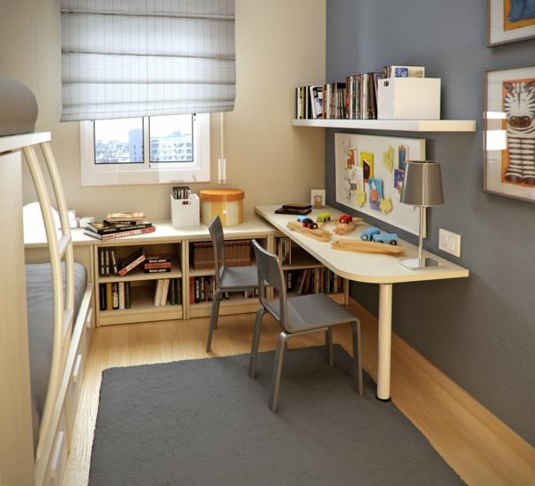 kleines-Kinderzimmer-Bücherregale