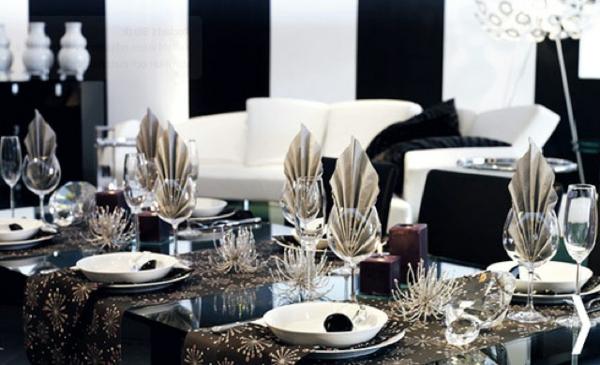 Silvester Tischdeko - für einen zauberhaften Abend ...