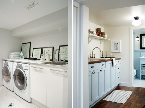 kreative-einrichtungsideen-für-den-keller-zimmer-zum-kleiderwaschen