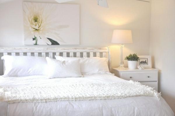 Wohnideen für Schlafzimmer in Weiß – 25 prima Bilder!