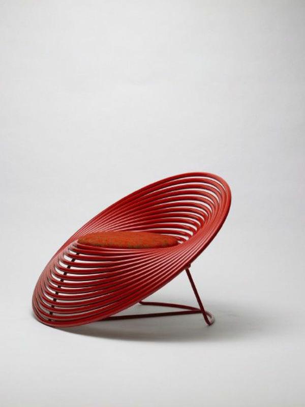 kreatives-Stuhl-Design-Rot