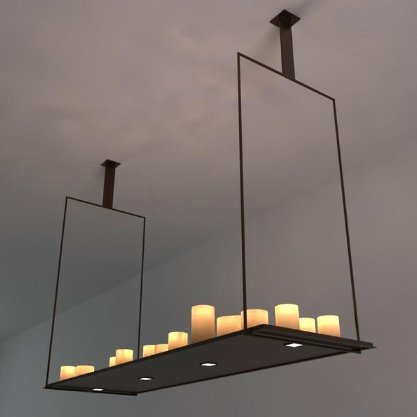 lampe mit kerzen vintage kerzen lampe mit silberschirm. Black Bedroom Furniture Sets. Home Design Ideas