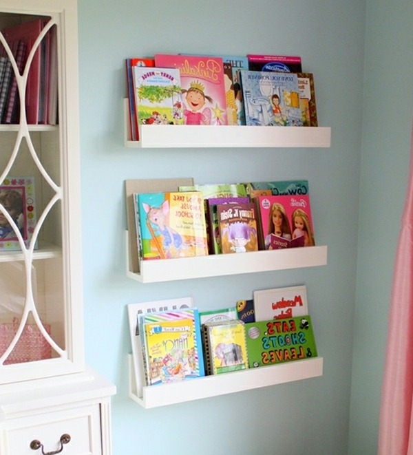 Bücherregal wand kinderzimmer  Top Home Solutions® Kinder-Wandregal, Holz, montiert, zur ...
