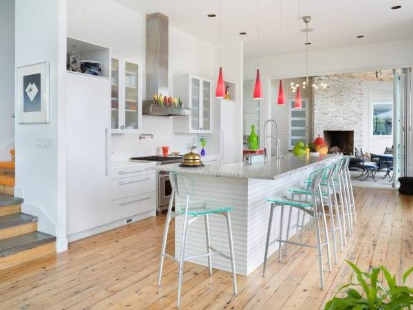 Moderne Küchen Insel Design Idee Küchenbar U2013 50 Fantastische Vorschläge! |  Kochinsel ...