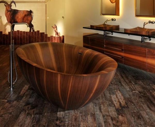 moderne-Badewannen-aus-Holz-