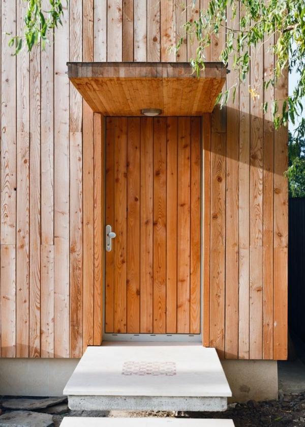 moderne-Holzvordächer-Haustür-Idee