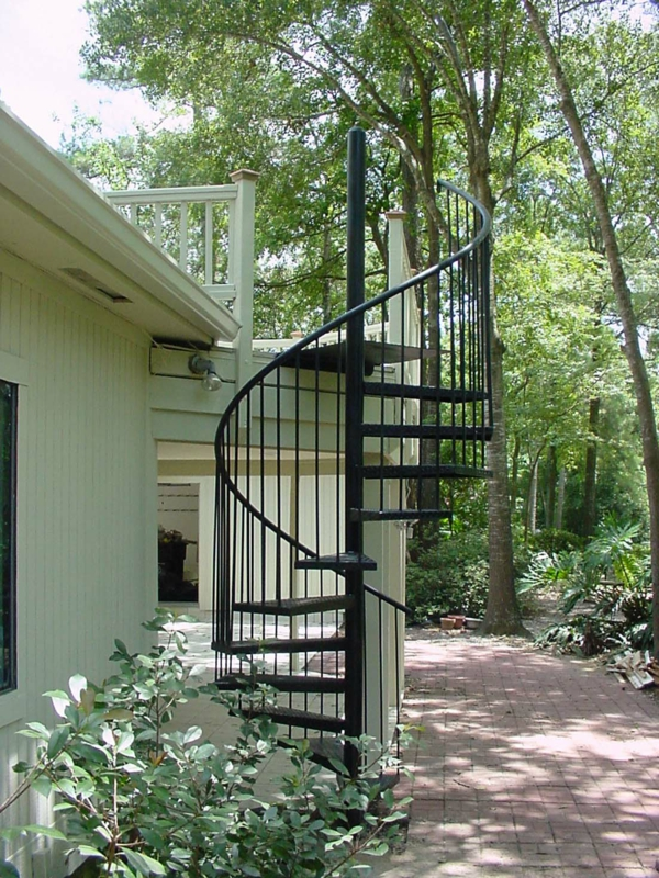 moderne-Spiraltreppen-Exterior-Design