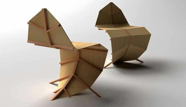 moderne-designer-Stühle-Holz