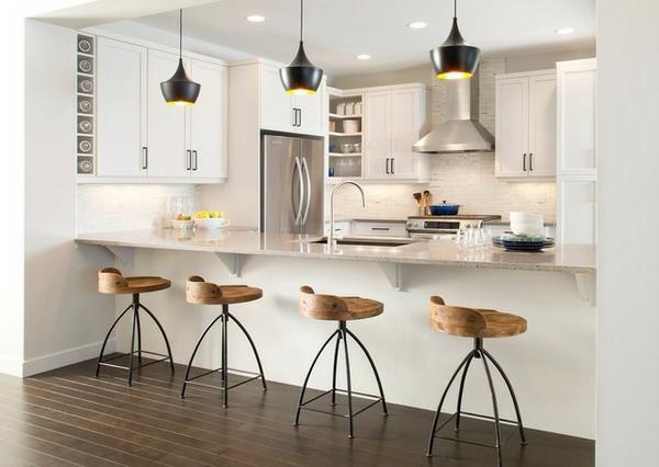moderne-fantastische-Küche-mit-einer-Bar-Design-Idee