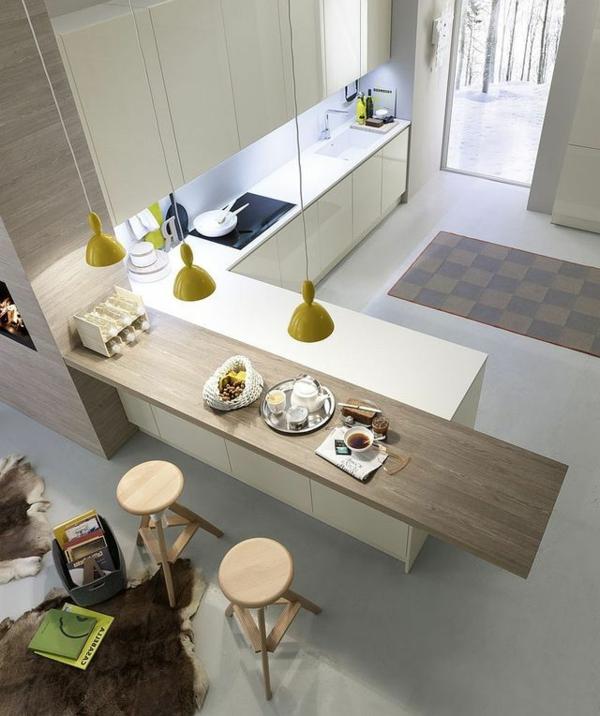 moderne-schöne-Küche-mit-Bar