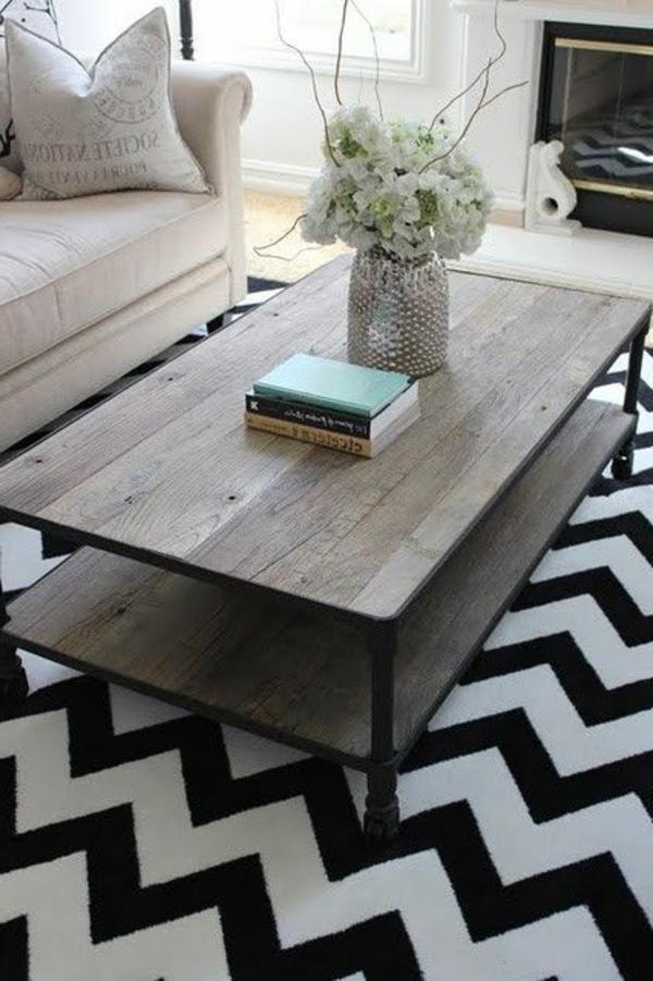 moderner-Teppich -Schwarz-und-Weiß