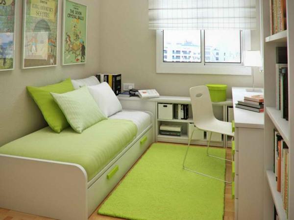 moderner-Teppich-in-grüner-Farbe-im-Kinderzimmer