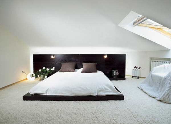 modernes-Schlafzimmer-weißer-Teppich-Idee