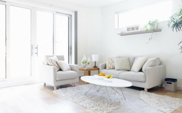 Modernes Wohnzimmer Teppich In Farbe Weiß