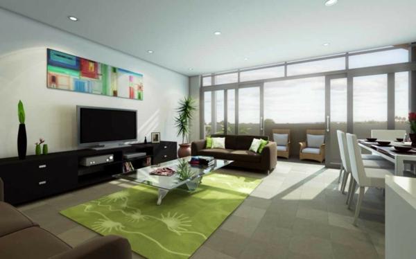 modernes-Wohnzimmer-mit-grünem-Teppich