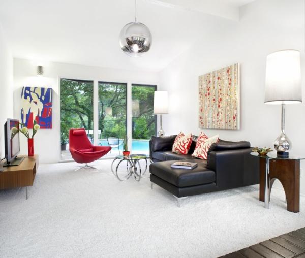 teppich in wei schick und stilvoll. Black Bedroom Furniture Sets. Home Design Ideas