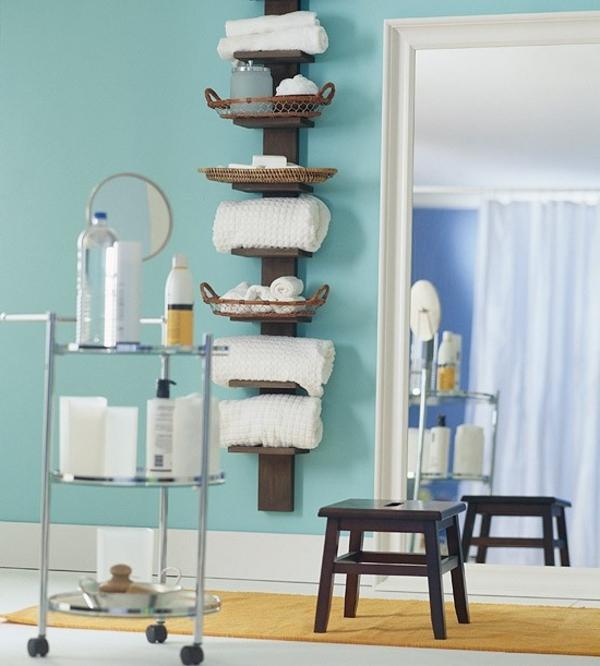 wandmontiertes regal modern holz fr badezimmer aria by willy ...