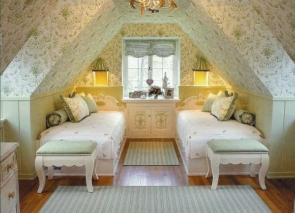 Coole Tapeten F?r Schlafzimmer : elegantes schlafzimmer mit hellen tapeten und zwei betten
