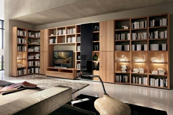 modernes-wohnzimmer-mit-bücherregalen