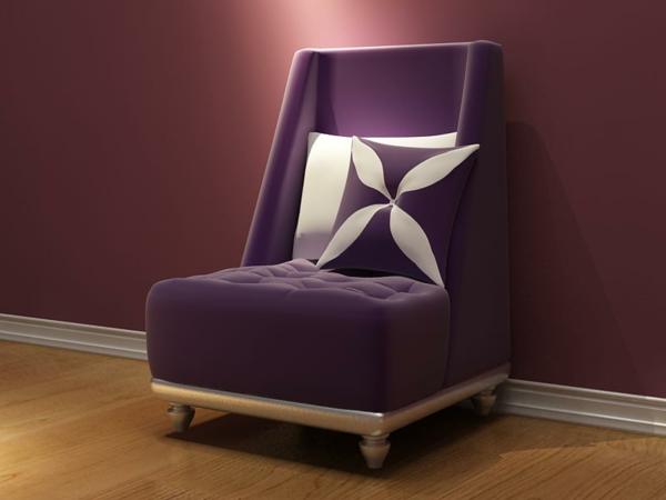 stuhl in lila stilvoll und extragavant. Black Bedroom Furniture Sets. Home Design Ideas