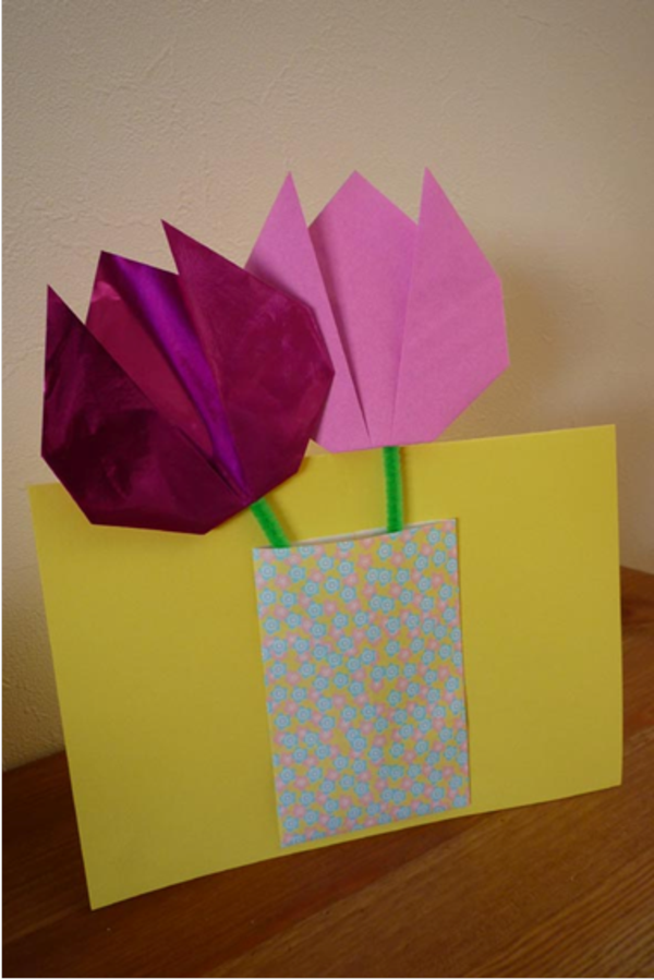 Titelbild Schoenes Aus Papier Von : Tulpen basteln interessante modelle