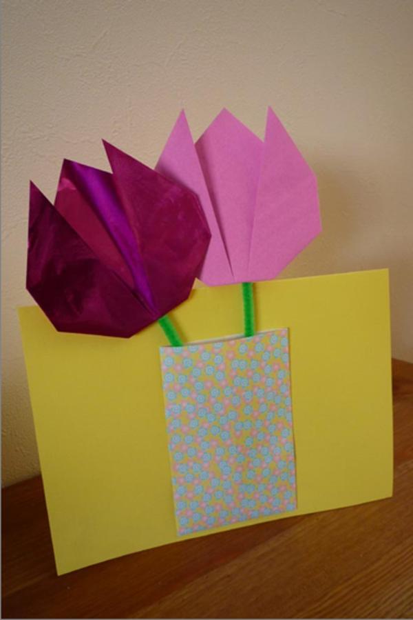 Без улыбки, оригами тюльпан на открытку