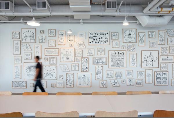 Unglaubliche b ror ume 55 atemberaubende bilder - Wandgestaltung buro ...