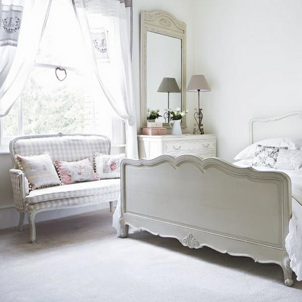 originelle-wohnideen-für-schlafzimmer-weiße-farbe