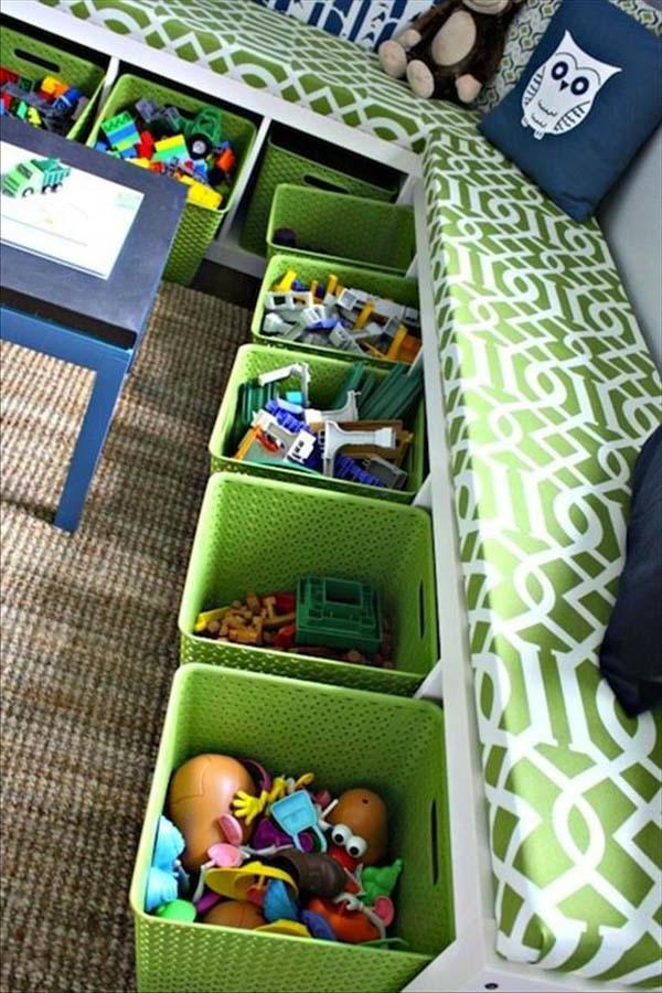 Vorschlage Gestaltung Kinderzimmer : wunderschöne grüne schubladen mit spielzegen  modernes kinderzimmer