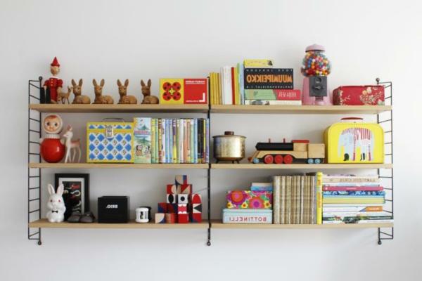 praktisches-Kinderzimmer-Bücherregale aus Holz