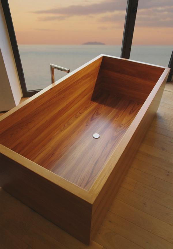 quadratischer-Badewanne-aus-Holz_Interior-Design