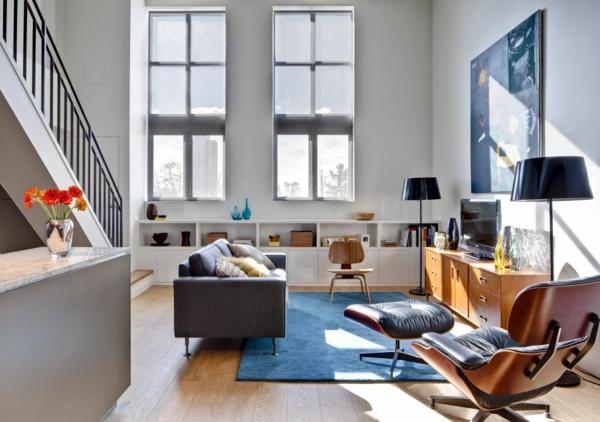 quadratischer-Teppiche-in-Blau-Ideen